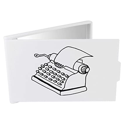 Azeeda Máquina de Escribir Espejo Compacto / de Bolsillo (CM00014434)
