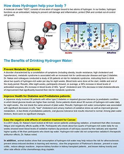 Hydrogen Rich Water Generator - Drinking Hydrogen Water Antioxidant Health Benefits Hydrogenated Water by Medicomat (Image #7)'