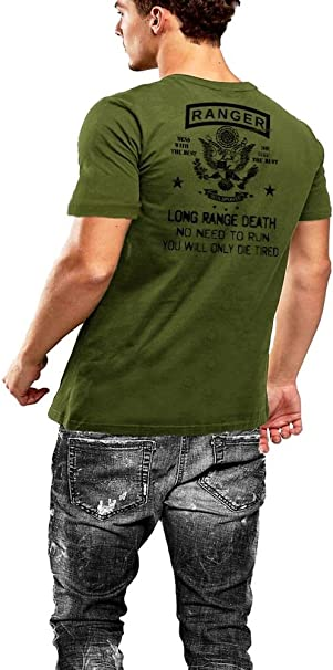 Warface Apparel Army Combat Engineer Sapper US Flag Grey T-Shirt 2 Sided Print