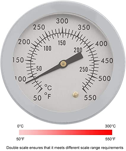 Barbecue-Thermometer Gauge 50-500 ℃ Edelstahl BBQ Smoker Grill TemperaturZP