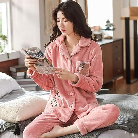 Bayrick Pijamas Mujer Invierno Enteros,Conjunto de Pijama de ...
