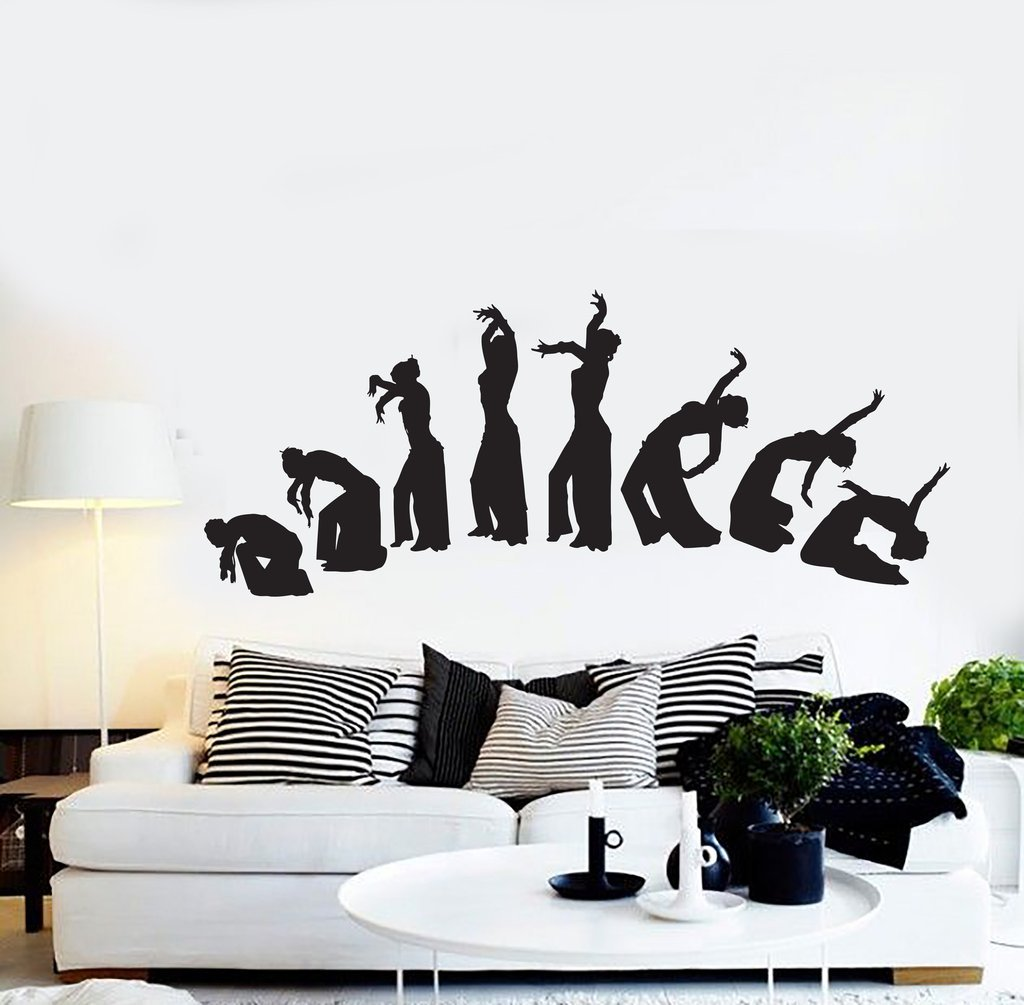 Negativ Wall Decal Belly Dance Dancing Girl Vinyl Removable Mural Art Decoration Stickers for Home Bedroom Nursery Living Room Kitchen