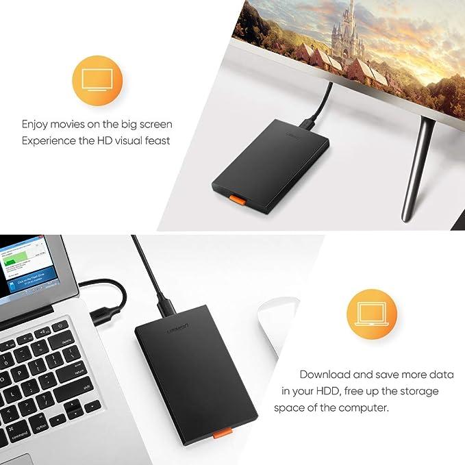 Amazon.com: UGREEN - Carcasa externa de disco duro USB 3.0 a ...