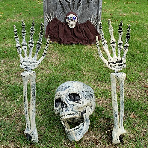 DUBBUL Realistic Looking Skeleton Stakes, Yard Lawn Stakes, Groundbreakers for Best Halloween Yard Decorations (Tombstone Yard Decorations)