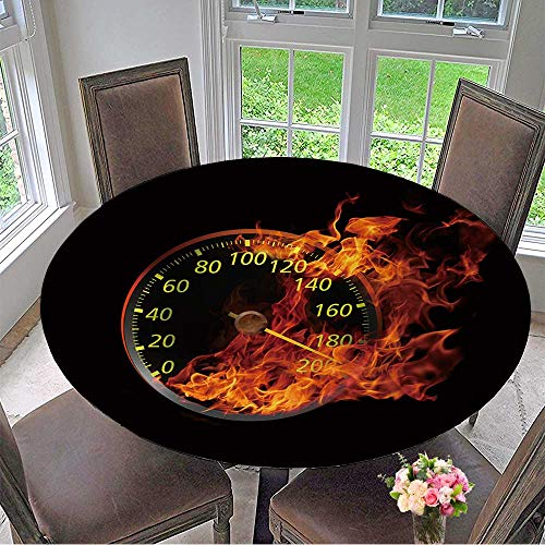 Ninja Speedometer - Round Polyester Tablecloth Table Cover D Speedometer Hi res Rendering Realistic Version. for Most Home Decor 50