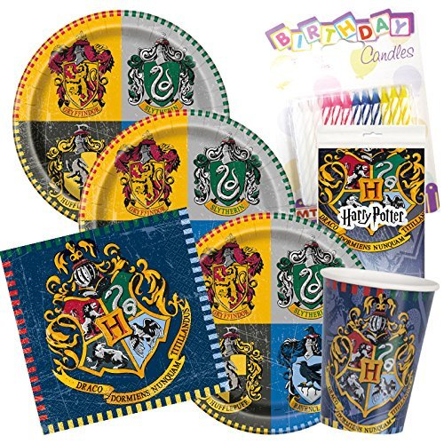 Harry Potter Party Plates Napkins Cups Serves 16 With ()