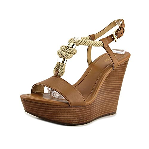 da663d0395f MICHAEL Michael Kors Womens Holly Platform Leather Open Toe, Acorn ...