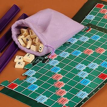 B5645ells English Scrabble Games Kids Crossword Puzzles Board Niños Palabras Ortografía Juguete – Inglés: Amazon.es: Oficina y papelería