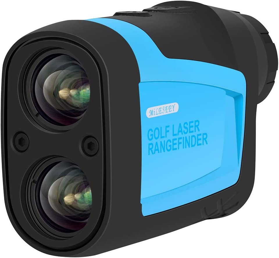 MiLESEEY Golf Laser Rangefinder-Laser Range Finder with Slop,Golf Trajectory,Flag-Lock Scanning Measurement for Speed,Angle,Distance-656Yard 6X Binoculars for Hunting
