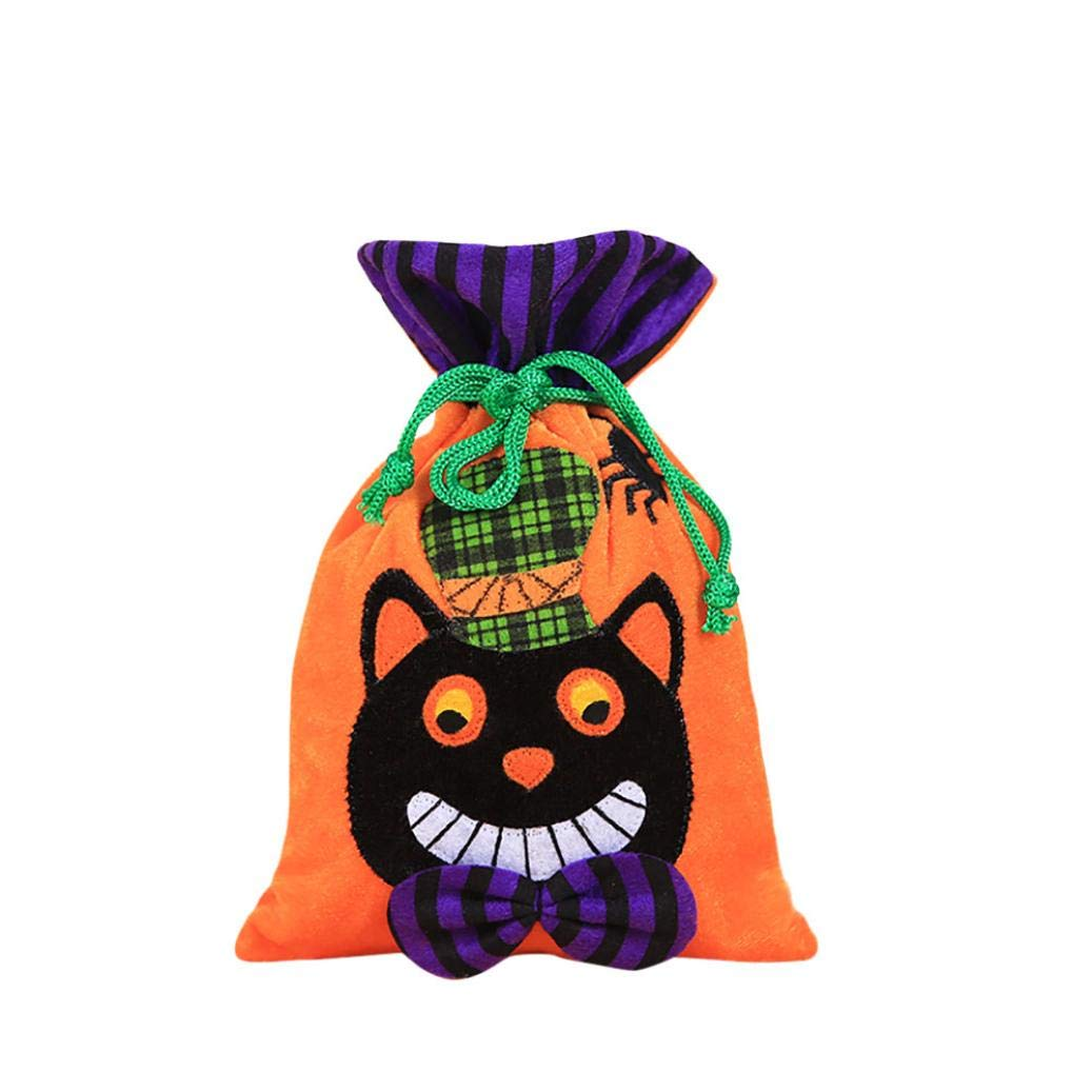 Tpingfe Halloween Cute Witches Candy Bag Packaging Children Party Storage Bag Gift (D)