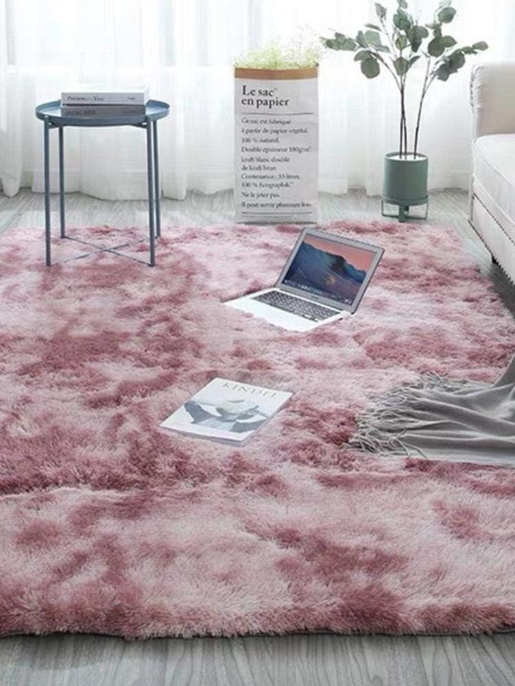 tappeti Morbidi Accogliente Tappeto da Terra Shaggy per Camera da Letto da Salotto Kindlyperson Tappeto Tie-Dye Rosa, 40x60 cm