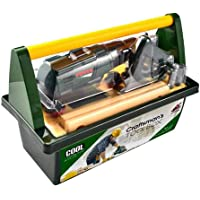 Craftsman's Toy Tool Box with Battery-Powered Toy Drill