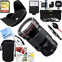 Canon EF 20mm F2.8 USM Lens (2509A003) + 64GB Ultimate Filter & Flash Photography Bundle
