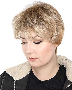 Prettyland Perruque Coupe Courte Blonde Meches Chatain Frange Effrange Pixie Lolita Manga Cosplay Wig C695 Amazon Fr Beaute Et Parfum