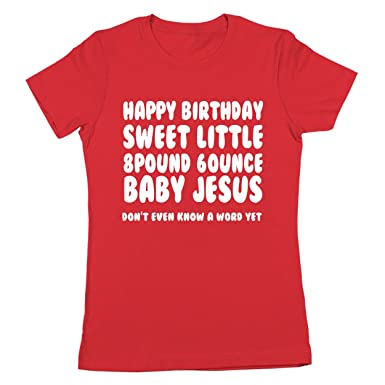 Amazoncom Funny Threads Outlet Happy Birthday Baby Jesus Christmas