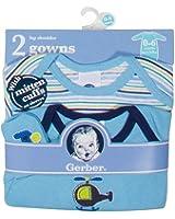 Gerber Newborn Baby Boy Lap Shoulder Gowns - 2-Pack - 0-6 Months