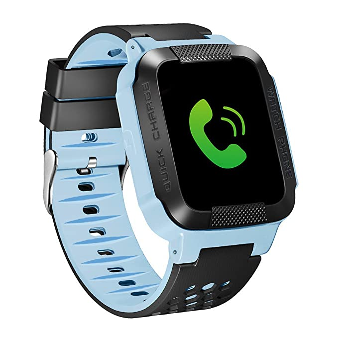 EiffelT Kids GPS Tracker Watch, Smart Watch for Kids SOS Remote Monitor GPS +LBS iOS and Android APP GPS Tracker Watch, Only Support SIM Card of ...