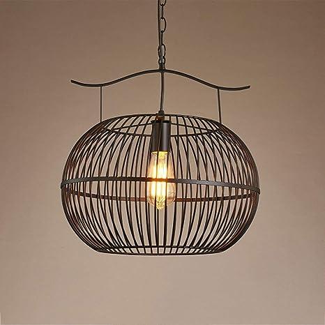Loft Estilo industrial Cubierta de lámpara de hierro hueca ...