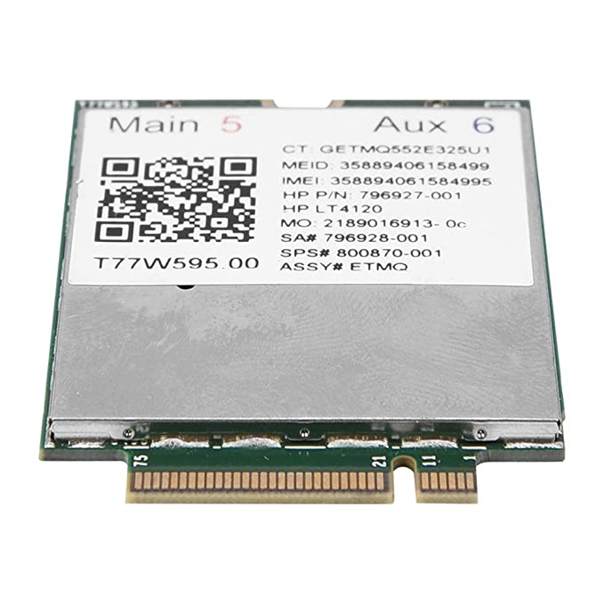 Amazon.com: For HP LT4120 for Snapdragon X5 LTE T77W595 796928-001 4G WWAN M.2 Modem Module 150Mbps: Computers & Accessories