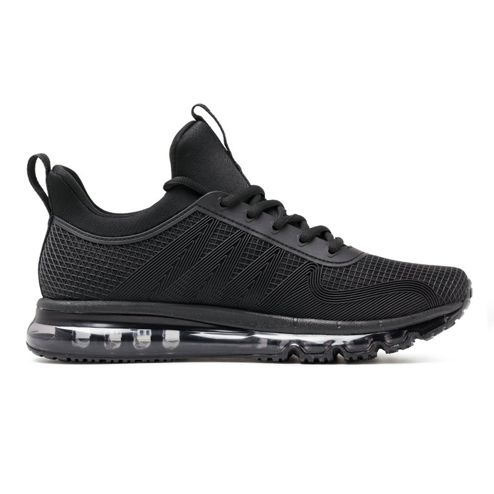 ONEMIX Air Cushion Sports Running Casual Walking Sneakers Shoes for Men and Women B077SMSX3M 8 D(M) US 10.23 inch=EUR41 Black