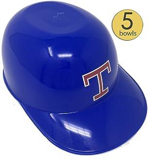 1a1b9908d8567 Baseball Helmet Ice Cream Sundae Bowls - Baseball Helmet Snack Bowls Plastic  Blue with Red Logo