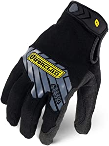 Ironclad Command Pro Work Gloves; Touch Screen Gloves Conductive Palm & Fingers, All-Purpose, Performance Fit, Machine Washable, Sized S, M, L, XL, XXL (1 Pair), Black