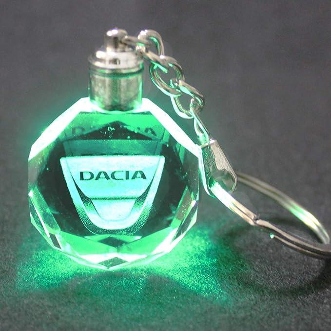VILLSION Auto Llavero Accesorios Coche Llavero Logo LED Colorido Cristal Luz Incluye Caja de Regalo