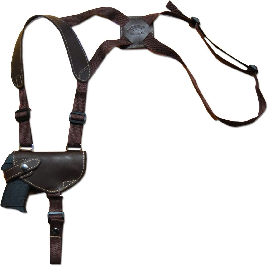 NEW Barsony Brown Leather Shoulder Holster 380 Ultra Compact 9mm 40 45 w// LASER