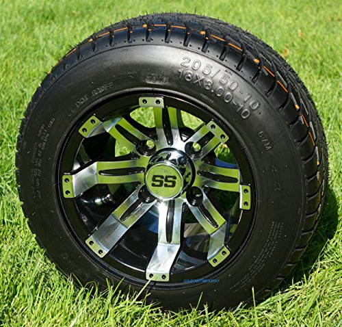 10 Tempest MachinedBlack Wheels