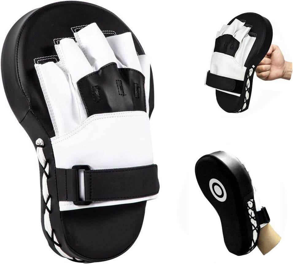 Leatherette Training Hand Pad... Valleycomfy Boxing Curved Focus Punching Mitts