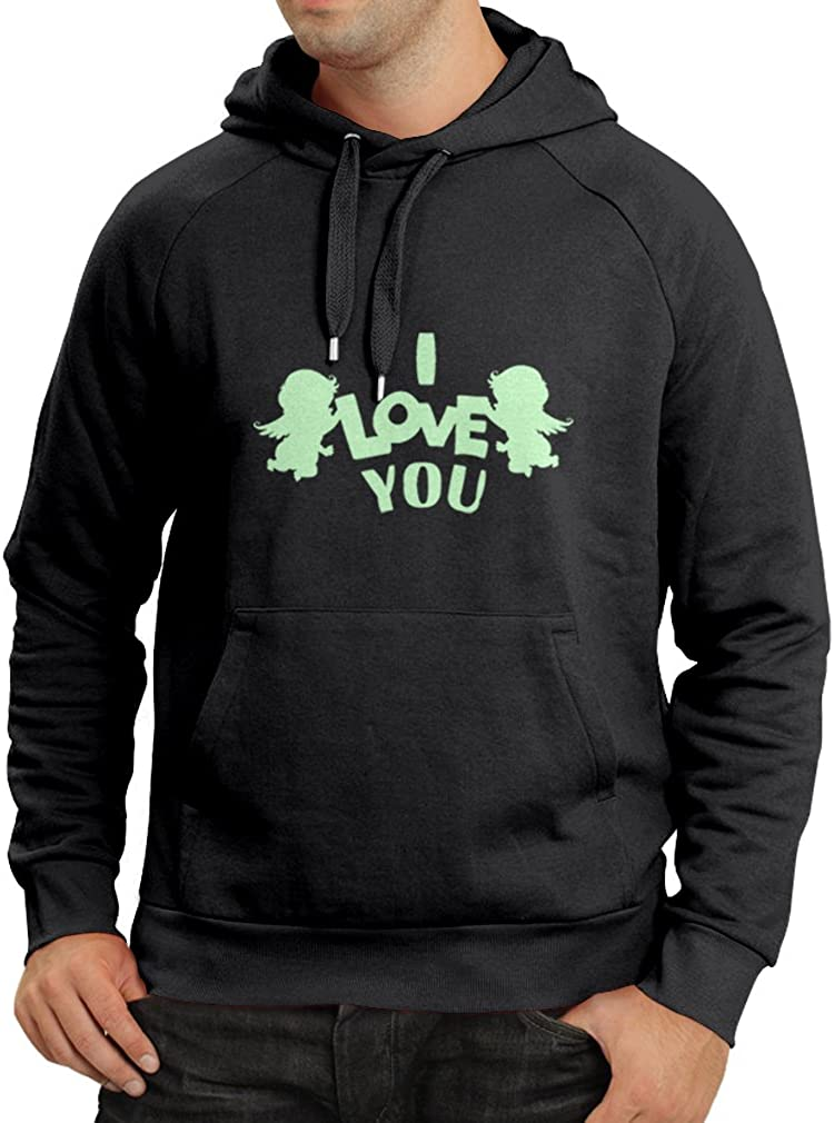 lepni.me Unisex Hoodie St Cupid Angel I Love You Quotes