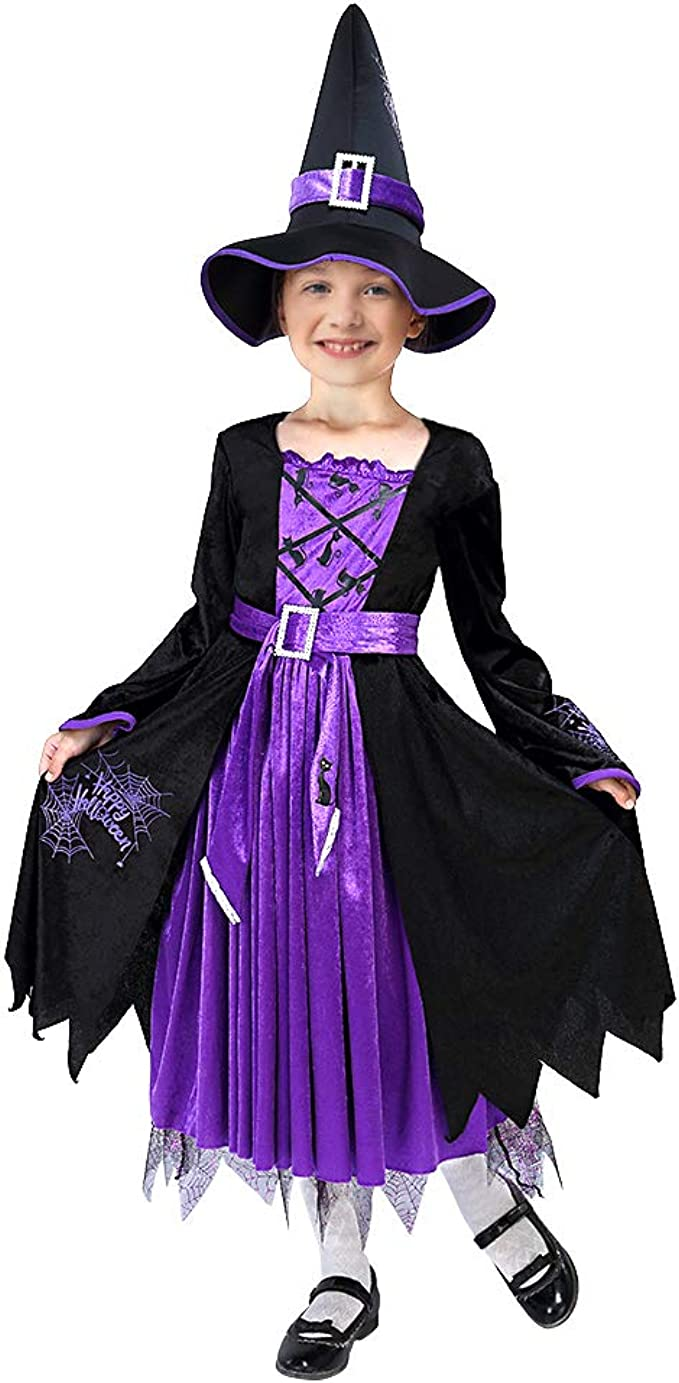 HALLOWEEN =PRETTY  WITCH =NEW IN PACK =AGE 3-4 yrs