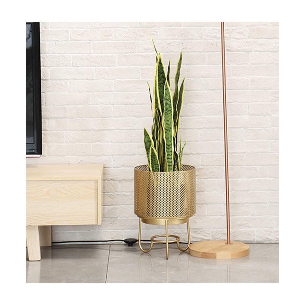 LWT 北欧中空シンプルな花のフレームリビングルームのバルコニーの装飾植木鉢棚錬鉄製の花の棚緑の花スタンド植物スタンド (サイズ さいず : M m) B07RPQ379X  M m