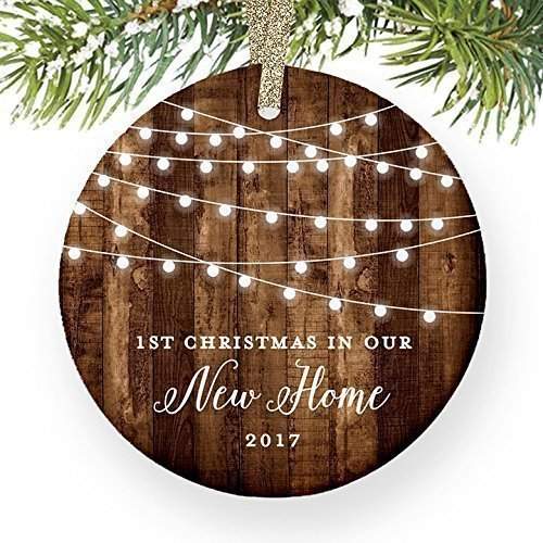 Country Collectibles Ornaments (Housewarming Gifts 2017, Dated 1st Christmas In Our New House Ornament New Home Rustic Xmas Farmhouse Collectible Homeowner Present Real Estate Agent 3