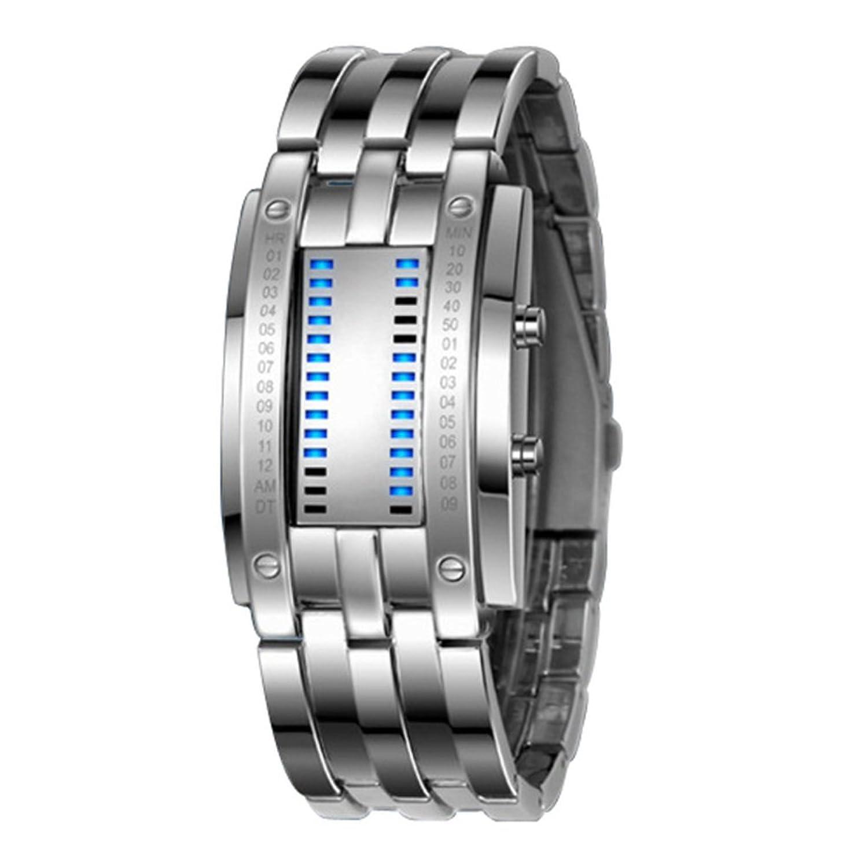 メンズall-metallic Watch / Atmosphericメンズ時計/ LEDCool watches-c B01E8N85EC