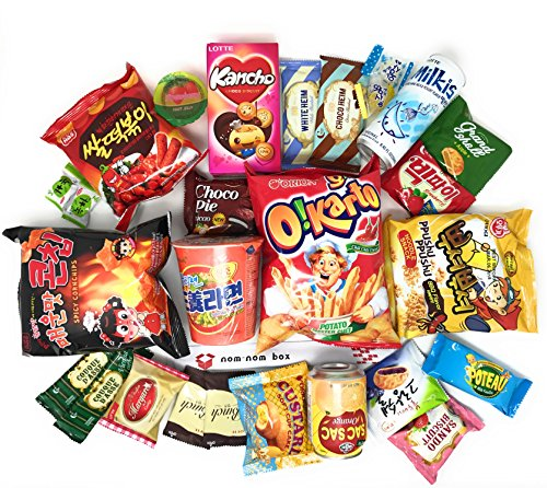 Squaredino: Ultimate Korean Snack Box (25 Count) - Variety Assortment of Korean Snacks, Chips, Cookies, Candies ()