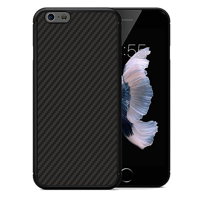 14 opinioni per Custodia iPhone 6S/6,LUSHENG Ultra Slim [Fit Armor] [Impressionante Nero][fibra