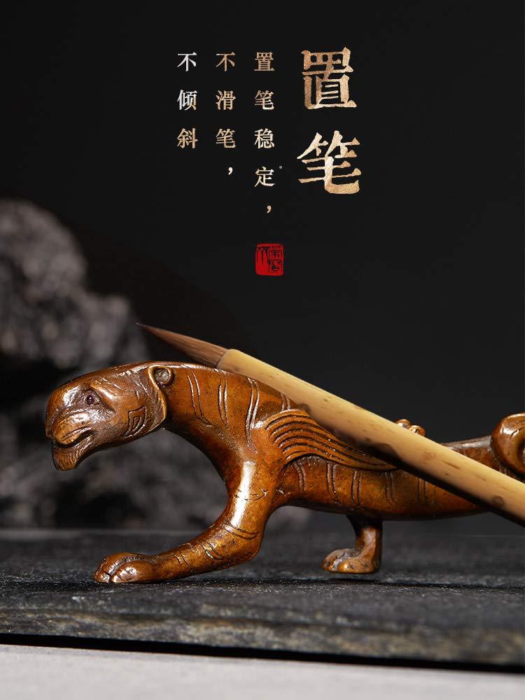 semli Ancient Bronze Calligraphy Wrting Brush Rest Holder Chinese Brush Rack Ornament of Study Room by semli (Image #8)