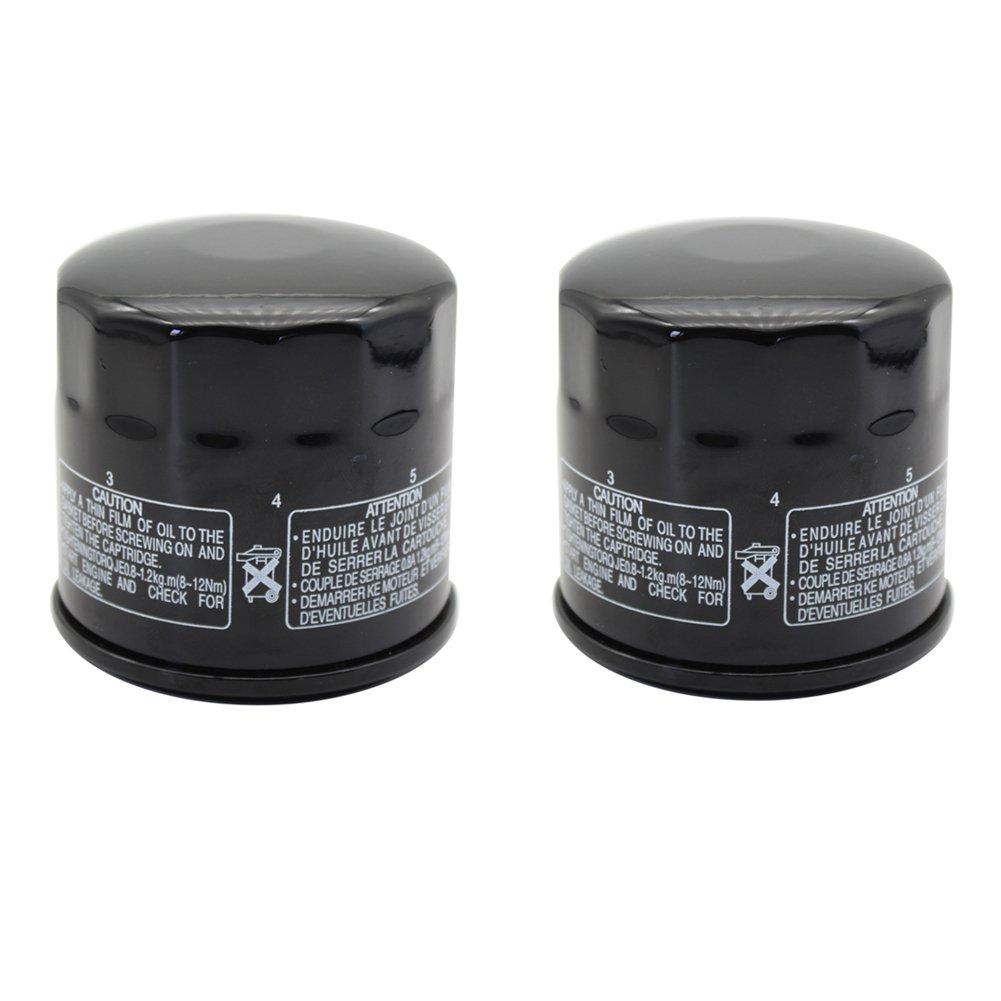 Cyleto Oil Filter for SUZUKI LTF400 EIGER 2X4 2002-2004 / LTF400F EIGER 4X4 400 2002-2007 (Pack of 2)