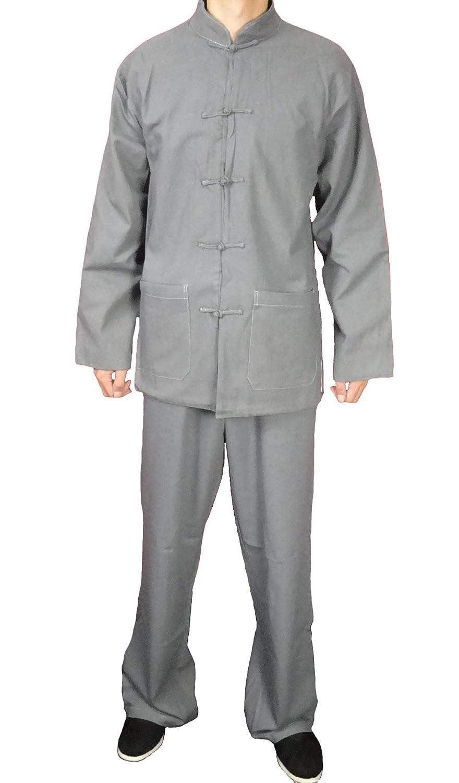 【ファッション通販】 オーダーメ-ド職人仕上げ上等リネン生地手作りグレーカンフースーツセット #122 #122 B004TI7S6I L L B004TI7S6I, イオウジマチョウ:80427a6d --- a0267596.xsph.ru