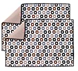 T-fal Textiles Reversible Print Fast Drying Mat, Set of 2, Bulb Neutral