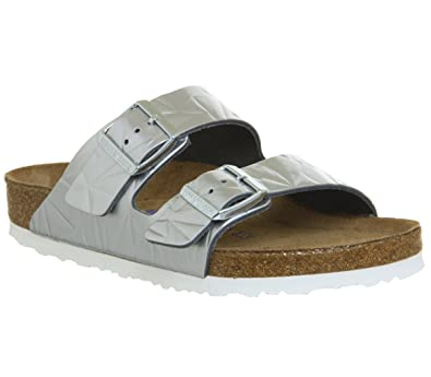 the best attitude f83b8 3998e BIRKENSTOCK Damen Spectral Silber Arizona Sandalen: Amazon ...