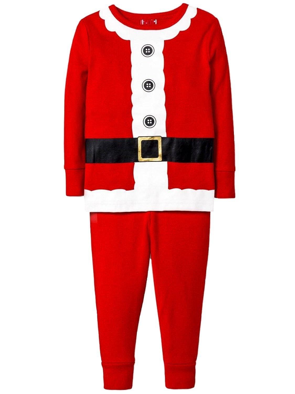 Holiday Boys 2-Piece Red Santa Claus Christmas Sleepwear Pajama Set