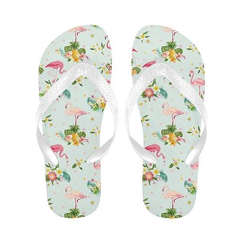 5389877450d INTERESTPRINT Non-Slip Flip Flop Slippers