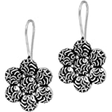 Jaipur Mart Handmade Rajasthani Traditional Oxidised Silver Drop Earrings Jewellery Gift For Her, Girl, Women, Mother, Sister, Girlfriend, Party, Daily Wear