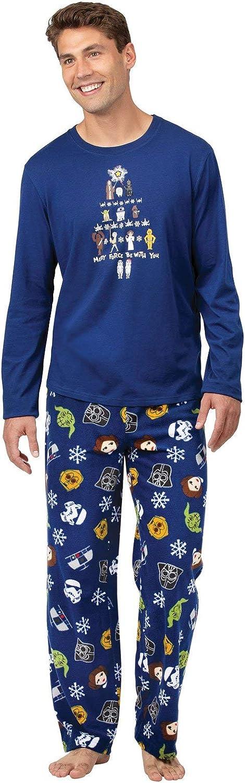 PajamaGram Fun Mens Christmas Pajamas - Star Wars Pajamas for Men, Dark Blue