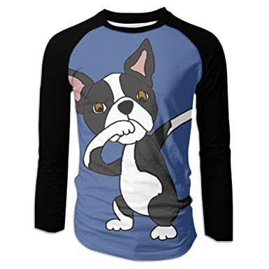 Amazon Com Shi Fu Men S Boston Terrier Dog Dabbing Novelty Long