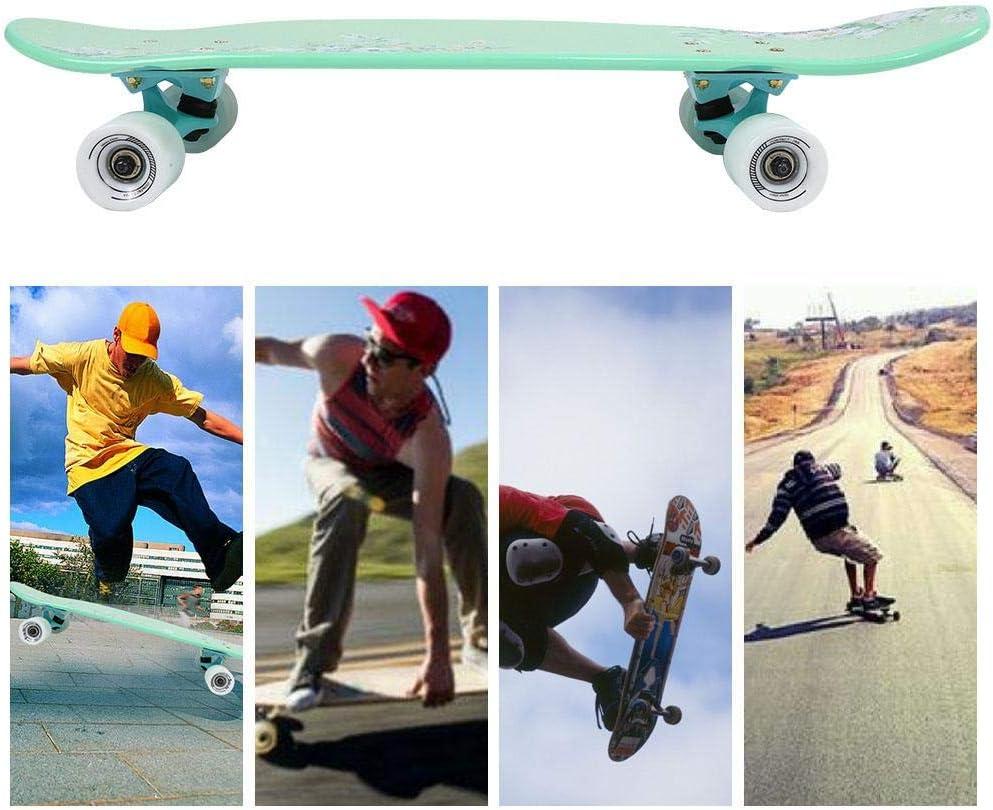 Alomejor Komplettes Skateboard 71cm Maple Deck Skateboard mit Flat Angle PU Wheel f/ür Kinder Erwachsene Jugendliche Teenager