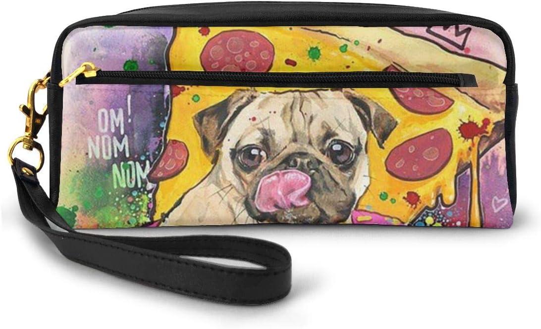 Japanese Cotton Canvas Dog Pencil Case   Pug Print Make-up Pouch Plenty of Pugs Pouch Rectangle Pouch Pencil Case