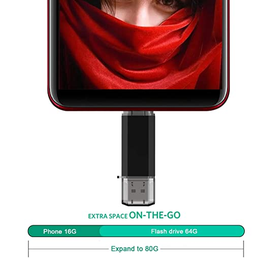 TOPESEL 64GB Memoria USB 3.0 Tipo C Dual OTG Flash Drive USB C Pendrives Llave Portátiles para Samsung Galaxy S8, S8 Plus, Note 8, LG G6, V30, Google Pixel ...